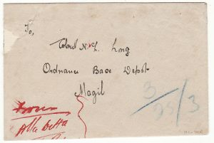 IRAQ…..1922 BRITISH OCCUPATION INTERNAL REGISTERED MAIL..