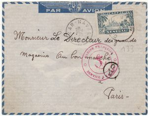 SENEGAL-FRANCE…..1940 FRENCH NAVAL MAIL