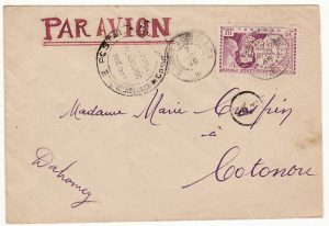 SENEGAL-DAHOMEY….WW2 CENSORED AIRMAIL..