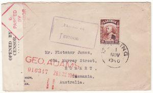 SARAWAK-AUSTRALIA...DOUBLE CENSORED in SARAWAK & AUSTRALIA..