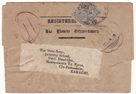 [15879]  INDIA-IRAQ ..WW1 I.E.F. WRAPPER..  1917(Dec 23)