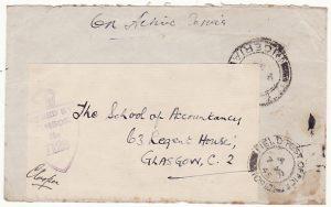 NIGERIA-GAMBIA...WW2 CENSORED & REUSED to GB..