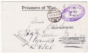 MALTA-GERMANY..WW1 POW MAIL..