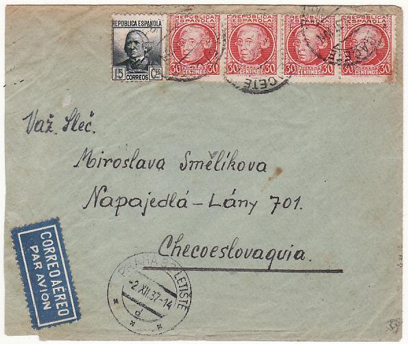 SPAIN-CZECHOSLOVAKIA...INTERNATIONAL BRIGADE SPANISH CIVIL WAR...