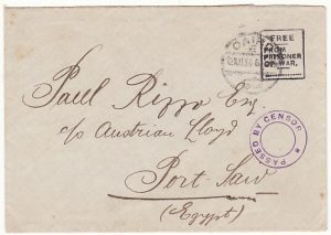 MALTA-EGYPT…..WW1 POW MAIL..