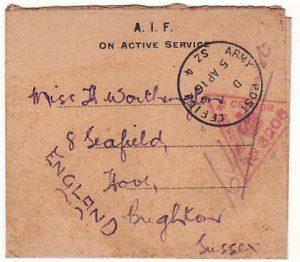 EGYPT-GB…WW1 AUSTRALIAN FORCES..