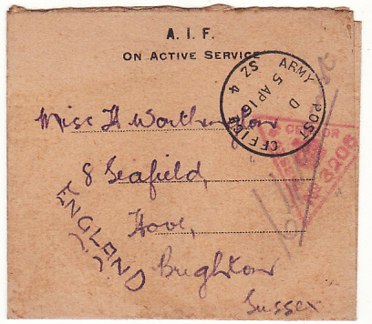 [16285]  EGYPT-GB…WW1 AUSTRALIAN FORCES..   1916(Apr 5)