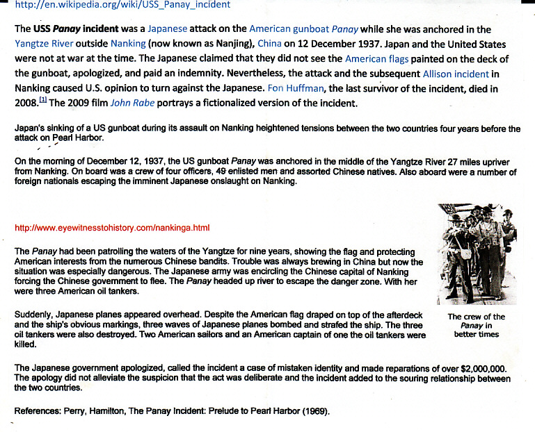 [16918]  CHINA-JAPAN….1937 JAPANESE FORCES PANAY INCIDENT..  1937(Dec 6)