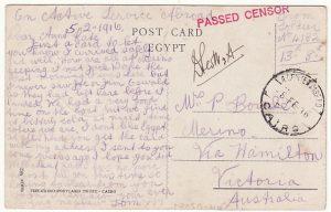 EGYPT-AUSTRALIA...WW1 AUSTRALIAN FORCES in EGYPT..