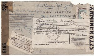 ARGENTINA-GB…WW2 UNDERCOVER MAIL REGISTERED & FORWARDED to RAF SQN 460..