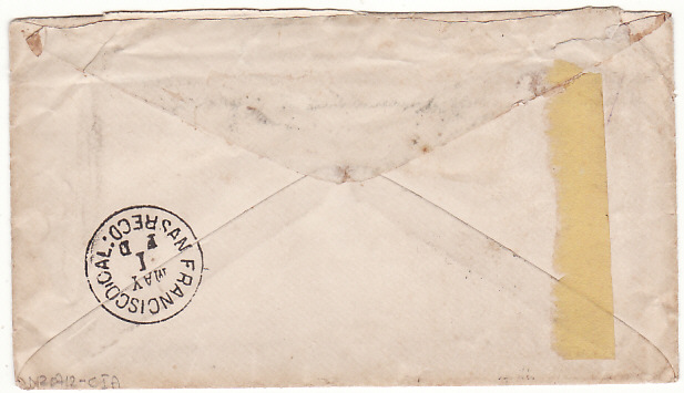 [16400]  USA - NEW ZEALAND…1886 INSUFFICIENTLY PREPAID & TAXED  1886 (Apr 26)