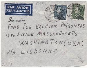 BELGIUM-USA…WW2 FUND FOR BELGIAN PRISONERS..