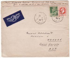ALGERIA-FRENCH GUINEA..WW2 MILITARY by AIRMAIL..