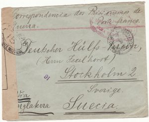 PORTUGUESE COLS-SWEDEN...WW1 CIVIL INTERNEE from AZORZES..