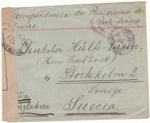 PORTUGUESE COLS-SWEDEN...WW1 CIVIL INTERNEE from AZORZES..