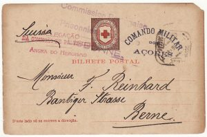 PORTUGUESE COLS-SWITZERLAND...WW1 CIVIL INTERNEE from AZORZES..