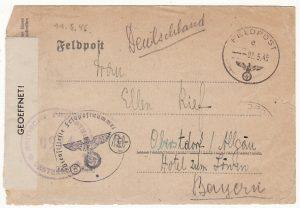 AUSTRIA- GERMANY...WW2 FELDPOST UBERROLLER MAIL..