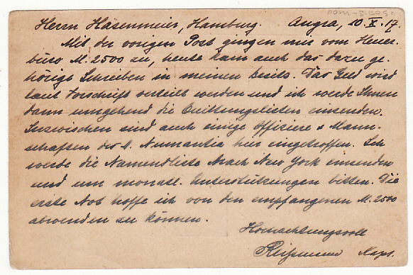 [16998]  PORTUGUESE COLS-GERMANY...WW1 CIVIL INTERNEE in AZORZES RED X CARD  1917(Oct 10)