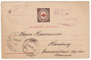 PORTUGUESE COLS-GERMANY...WW1 CIVIL INTERNEE in AZORZES RED X CARD