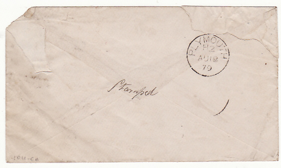 [17033]  INDIA-GB...1879 SOLDIERS CONCESSION MAIL..  1879(Jul 16)