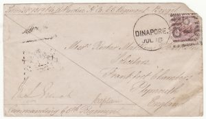 INDIA-GB...1879 SOLDIERS CONCESSION MAIL..