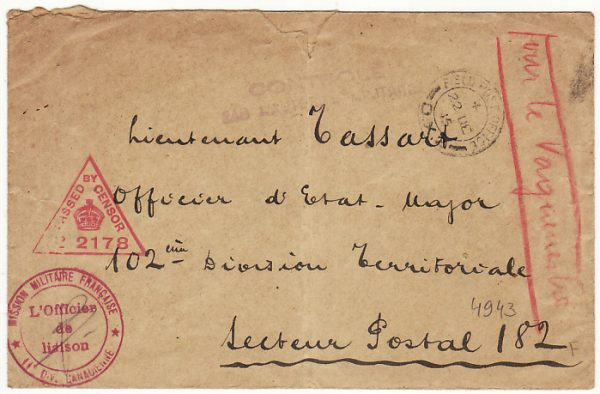 FRANCE...WW1 CANADIAN FORCES to FRENCH LIAISON FORCES..
