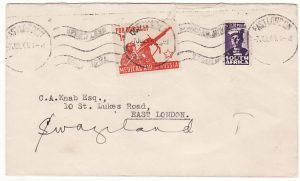SOUTH AFRICA-SWAZILAND...WW2 UNCENSORED PATRIOTIC MEDICAL AID TO RUSSIA LABEL..