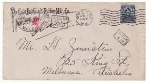 USA-AUSTRALIA..1904 NOT KNOWN LETTER CARRIERS MELBOURNE.