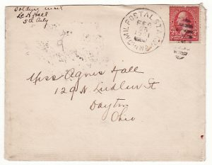 CHINA - USA….1901 US FORCES during BOXER WAR with MILITARY POSTAL STATION CHINA CANCEL….