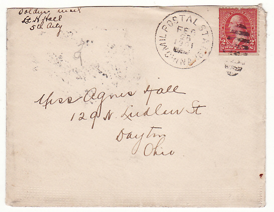 [17166]  CHINA - USA….1901 US FORCES during BOXER WAR with MILITARY POSTAL STATION CHINA CANCEL….  1901 (Feb 25)