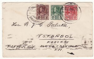 THAILAND- TURKEY..1931 RAMA V11 via PENANG & EGYPT