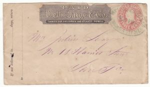USA..WELLS FARGO 3c  STATIONARY ENVELOPE..