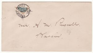DANISH WEST INDIES..1903 LOCAL USE 4c BISECT..