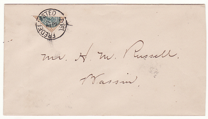 [17192]  DANISH WEST INDIES..1903 LOCAL USE 4c BISECT..  1903 (Mar 12)