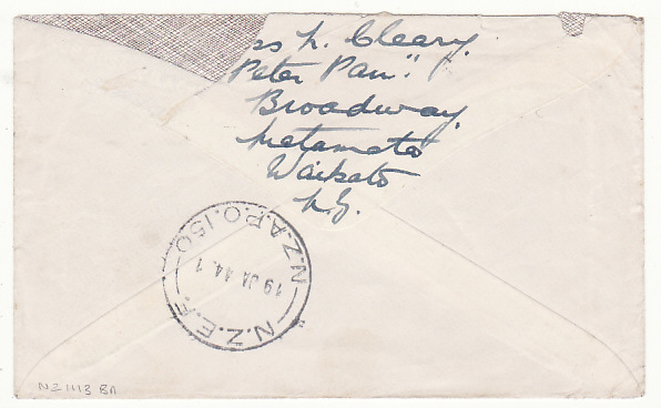 [17290]  NEW ZEALAND..1944 2nd NZEF 150 FORWARDED to 2nd CON. FIJI GUERILLAS…..  1944 (Jan 10)