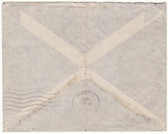 [17415]  SUDAN-GB..WW2 1943 SCARCER JUBA CENSOR...  1943 (Aug 18)