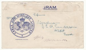 NEW ZEALAND-FIJI...WW2 CABLE & WIRELESS CHRISTMAS GREETINGS TELEGRAM...