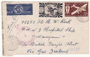 "NEW CALEDONIA...WW2 HOSPITAL SHIP ""MAUGANUI""..."