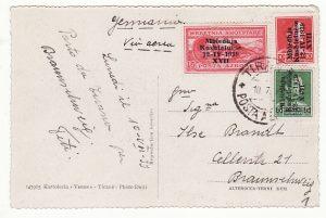 ALBANIA - GERMANY...1939 AIRMAIL POSTCARD ITALIAN OCCUPATION...