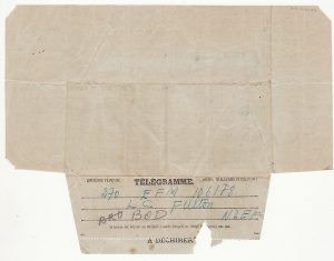NEW ZEALAND-NEW CALEDONIA..WW2 FOLDED TELEGRAM FORMS to 2nd N.Z.E.F. SOLDIER...