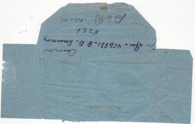 [17499]  NEW ZEALAND-NEW CALEDONIA..WW2 FOLDED TELEGRAM FORMS to 2nd N.Z.E.F. SOLDIER...   1944 (Jan 4)