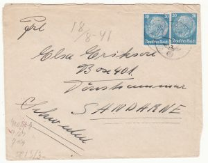 GERMANY-SWEDEN...WW2 FELDPOST MAIL to OVERSEAS...