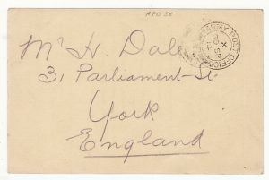 "FRANCE-GB..WW1 PROVISIONAL ""I AM WELL"" STATIONARY..."