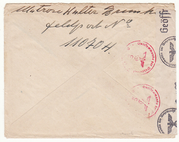 [17486]  GERMANY-SWEDEN...1941 FELDPOST MAIL to OVERESEAS & TAXED...  1941(Sep 2)