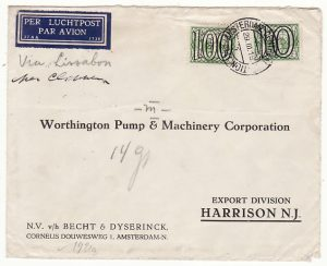 NETHERLANDS - USA....1941 HIGH RATE AIRMAIL...
