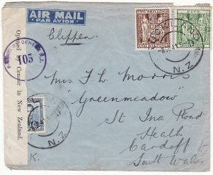 NEW ZEALAND - GB....1941 PEARL HARBOUR AIRMAIL...