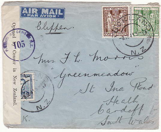 [17637]  NEW ZEALAND - GB....1941 PEARL HARBOUR AIRMAIL...  1941 (Dec 8)