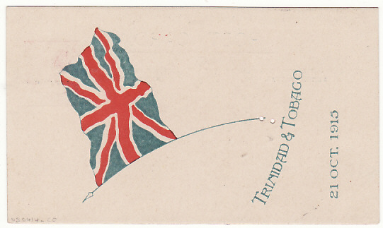 [17679]  TRINIDAD...WW1 PATRIOTIC POSTCARD...  1915 (Oct 21)