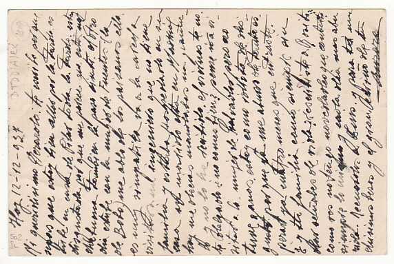 [17729]  SPAIN....SPANISH CIVIL WAR PRISON MAIL....   1937 (Dec 12)