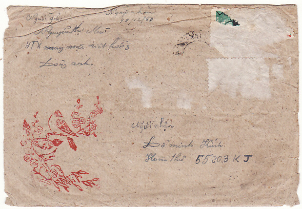 [17833]  VIET-NAM...VIET-NAM WAR INGOING MAIL to VIET CONG SOLDIER LATER POW on PICTORIAL ENVELOPE...  1967 (Dec 19)